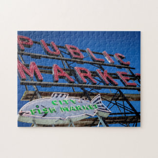 Pike Place Public Market Sign Jigsaw Puzzles