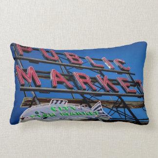 Pike Place Public Market Sign Pillows