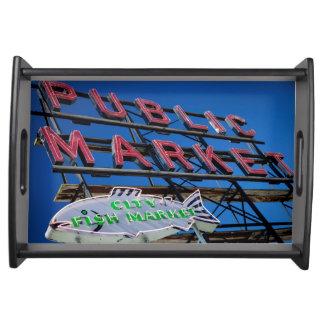 Pike Place Public Market Sign Serving Platter
