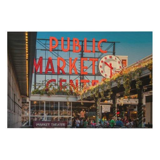 Pike Place Public Market Wood Prints