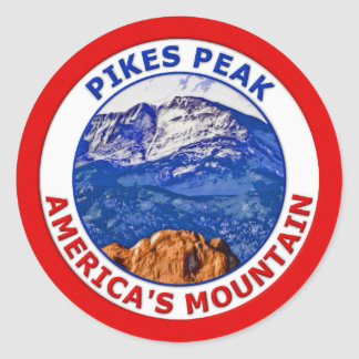 Pikes Peak America's Mountain Classic Round Sticker