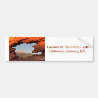 Pikes Peak and Moon Framed by Sandstone Bumper Sticker