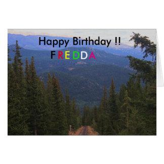 Pike's Peak Birthday Card