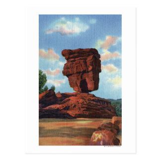 Pikes Peak, Colorado - Balanced Rock Postcard