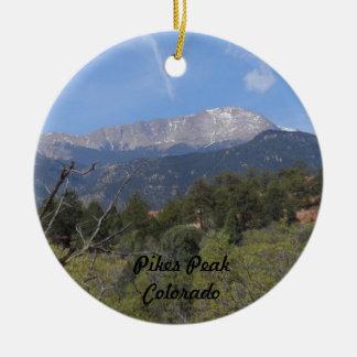 Pikes Peak- Colorado Springs Ceramic Ornament