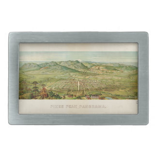 Pikes Peak, Colorado Springs, Colorado (1890) Rectangular Belt Buckles