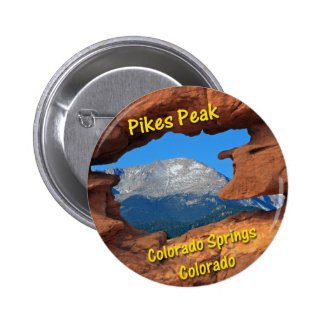 Pikes Peak, Colorado Springs, Colorado 2 Inch Round Button