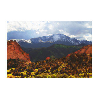 Pikes Peak from Garden of the Gods Canvas Print