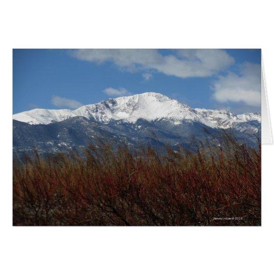 Pikes Peak in Spring Card