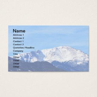 Pikes Peak Mountain, Colorado Springs, Colo Business Card