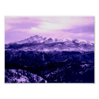 Pikes Peak Mountain Poster