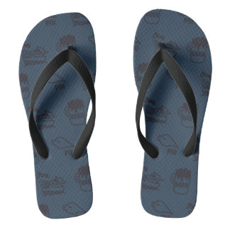 PIKONOTE beach sandal/navy [BEER and SHIP and Flip Flops