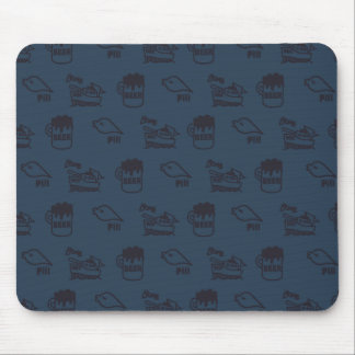 PIKONOTE mouse pad/navy [BEER and SHIP and Mouse Pad