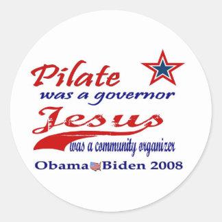 Pilate Jesus Obama 2008 Stickers
