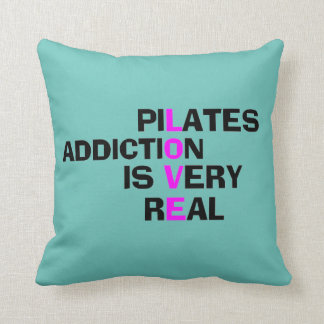 Pilates Addiction - Studio Decor Items Throw Pillow