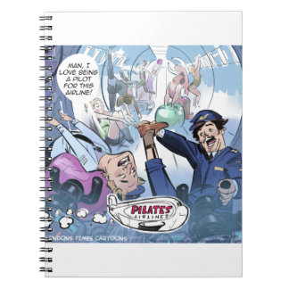 Pilates Airlines Rick London Funny Gifts Notebook