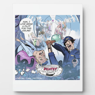 Pilates Airlines Rick London Funny Gifts Plaque