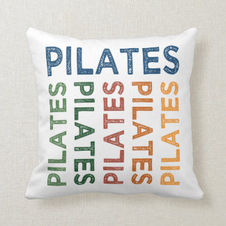 Pilates Cute Colorful Throw Pillow