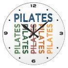 Pilates Cute Colourful Large Clock