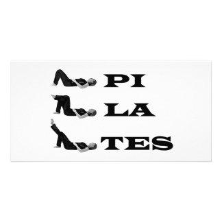 Pilates figures! photo greeting card