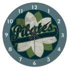 Pilates Flower Large Clock