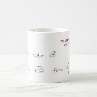 Pilates for people who love wine Harold's Planet Coffee Mug