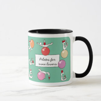 Pilates for Winelovers Mug, green Mug