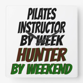 Pilates Instructor Hunter Square Wall Clock
