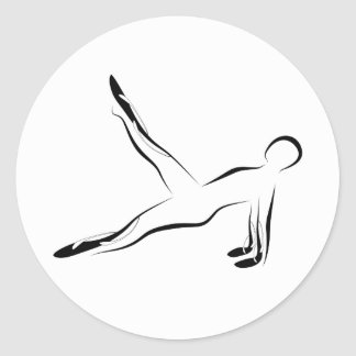 Pilates pose classic round sticker