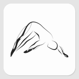 Pilates pose square sticker