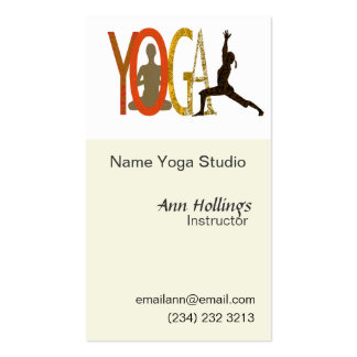 Pilates Yoga Business Card