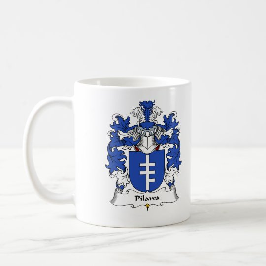 Pilawa Family Crest Coffee Mug