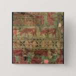 Pile carpet depicting horses and riders 2 inch square button