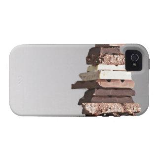 Pile de barres de chocolat coque iPhone 4