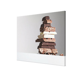 Pile de barres de chocolat toiles tendues