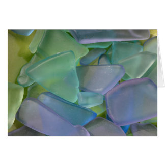 Pile of blue beach glass, Alaska Card