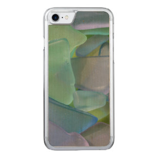 Pile of blue beach glass, Alaska Carved iPhone 8/7 Case