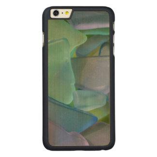 Pile of blue beach glass, Alaska Carved Maple iPhone 6 Plus Case