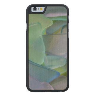 Pile of blue beach glass, Alaska Carved® Maple iPhone 6 Slim Case