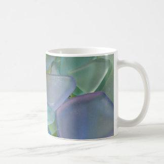 Pile of blue beach glass, Alaska Coffee Mug
