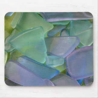 Pile of blue beach glass, Alaska Mouse Pad