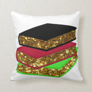 Pile of Books Throw Pillow