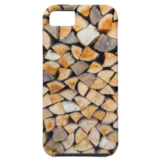 Pile of firewood as tree trunk case for the iPhone 5
