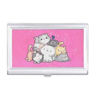 Pile of Kittens Business Card Holder