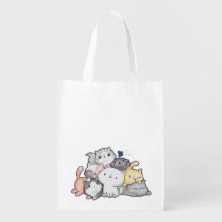 Pile of Kittens Reusable Grocery Bag