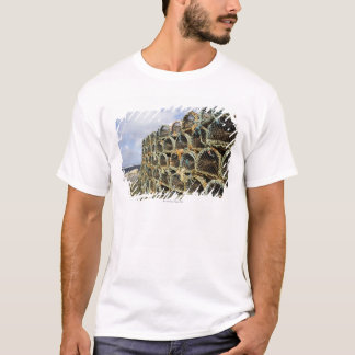 pile of lobster crab pots on Irish shoreline T-Shirt