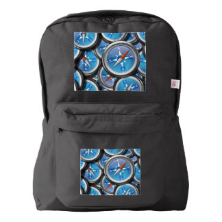 Pile of Nautical Compasses Backpack