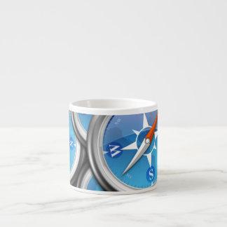 Pile of Nautical Compasses Espresso Mug