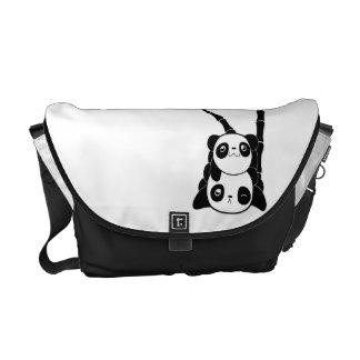 Pile of Pandas Messenger Bag