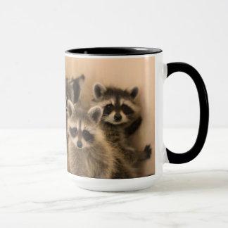 Pile of raccoons mug. mug